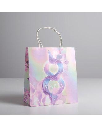 Пакет подарочный крафт «Нежность», 12 × 21 × 9 см арт. СМЛ-117733-3-СМЛ0005134141