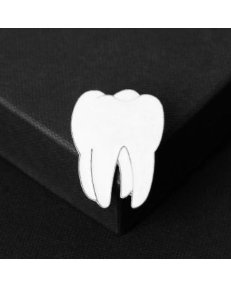 """Брошь """"Медицина"""" зуб, цвет белый в золоте арт. СМЛ-124976-2-СМЛ0005134368"""