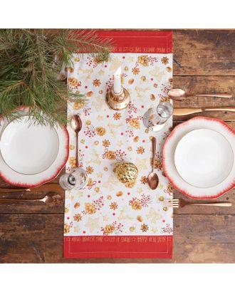 """Дорожка на стол """"Этель"""" Golden Christmas 30х70 см, 100% хл, саржа 190 гр/м2 арт. СМЛ-38916-1-СМЛ0005135212"""