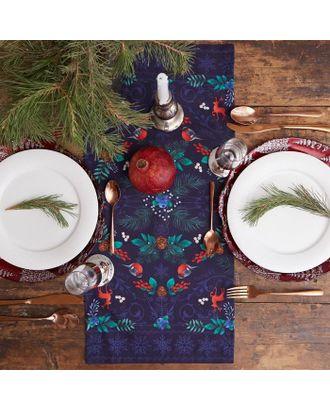 """Дорожка на стол """"Этель"""" New Year's botany 30х70 см, 100% хл, саржа 190 гр/м2 арт. СМЛ-38922-1-СМЛ0005135218"""