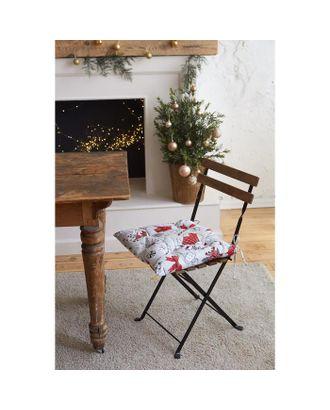 """Сидушка на стул """"Доляна"""" Новогоднее настроение 42х42х7 см, 100% хлопок, 164 г/м2 арт. СМЛ-38745-1-СМЛ0005135297"""