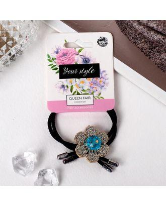 """Резинка для волос """"Хлоя"""" микс, 4 см, каменный цветок арт. СМЛ-107152-1-СМЛ0005135858"""