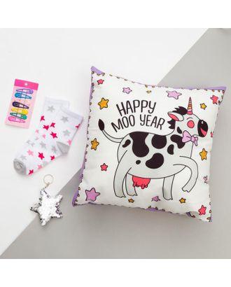 """Набор подарочный """"Beauty cow"""" подушка-секрет 40х40 см аксессуары (3 шт) арт. СМЛ-116739-1-СМЛ0005155031"""