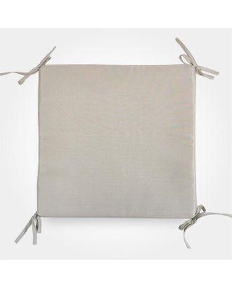 Сидушка на стул бамбук бежевый 34х34х1,5см, жаккард, поролон пэ100% арт. СМЛ-36628-1-СМЛ0005157725