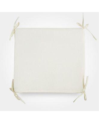 Сидушка на стул бамбук молочный 34х34х1,5см жаккард, поролон пэ100% арт. СМЛ-36629-1-СМЛ0005157726