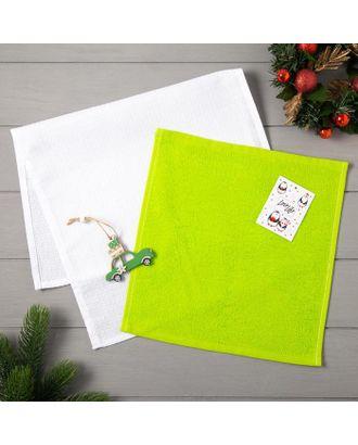 Набор полотенец LoveLife «Новогоднее чудо» : вафля 35х60 см, махра 30х30 см + игрушка арт. СМЛ-39187-1-СМЛ0005163104