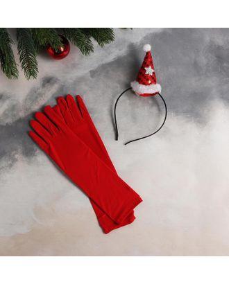 """Карнавальный набор  """"Я твоя Снегурочка"""" ободок, перчатки арт. СМЛ-124836-1-СМЛ0005167330"""