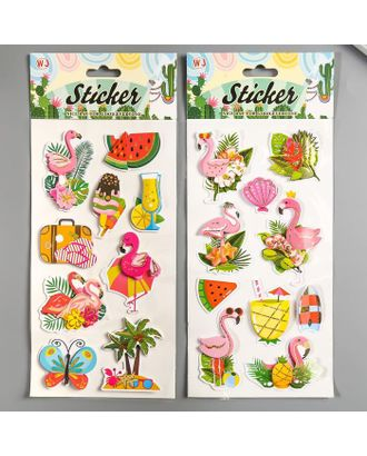 "Наклейка пластик многослойная ""Фламинго"" МИКС 32х13,5 см арт. СМЛ-123047-1-СМЛ0005169129"