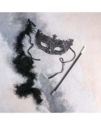 Карнавальный набор «Бонни» маска, мундштук, боа арт. СМЛ-123599-1-СМЛ0005169393