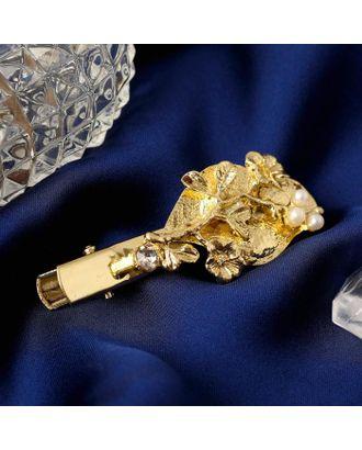 """Зажим для волос """"Муза"""" пчёлка, 5,8 см, золото арт. СМЛ-125085-2-СМЛ0005169460"""