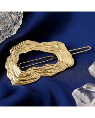 """Зажим для волос """"Магда"""" 6,2 см, золото арт. СМЛ-123102-1-СМЛ0005169461"""