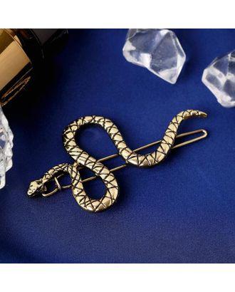 """Зажим для волос """"Змейка"""" 6 см, золото арт. СМЛ-112091-1-СМЛ0005179618"""