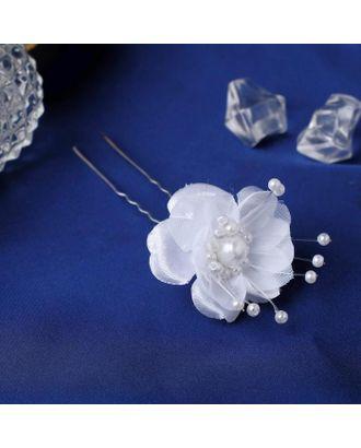"""Шпилька для волос """"Волшебный цветок"""" 3,5х6,5 см арт. СМЛ-109384-1-СМЛ0005179663"""