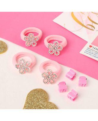 """Набор для волос """"Розовый перелив"""" (4 резинки, 4 краба) бабочки арт. СМЛ-117861-4-СМЛ0005181156"""