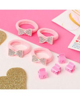 """Набор для волос """"Розовый перелив"""" (4 резинки, 4 краба) бабочки арт. СМЛ-117861-3-СМЛ0005181159"""