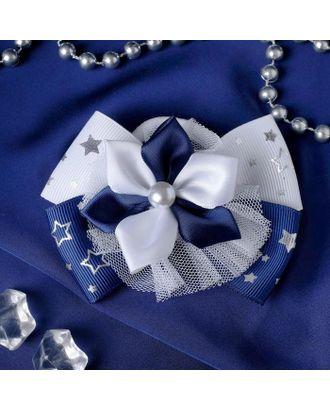 """Резинка для волос бант """"Школьница"""" d-9 см звёздный цветок арт. СМЛ-109410-1-СМЛ0005181214"""