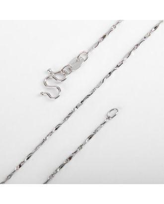 """Цепь """"Тонкие звенья"""", цвет серебро, ширина 1 мм, L=45 см арт. СМЛ-121728-1-СМЛ0005181893"""