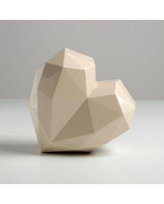 Подарочная коробка «Белое сердце», 18 × 18 × 12.5 см арт. СМЛ-105427-1-СМЛ0005195136