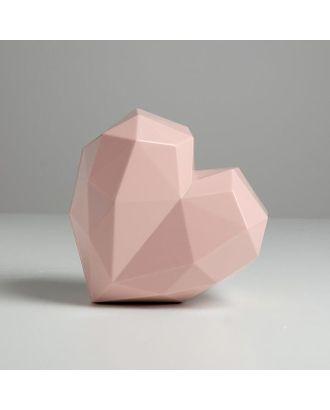 Подарочная коробка «Розовое сердце», 18 × 18 × 12.5 см арт. СМЛ-105428-1-СМЛ0005195137