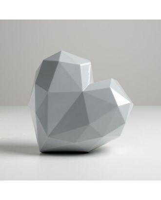 Подарочная коробка «Серое сердце», 18 × 18 × 12.5 см арт. СМЛ-105429-1-СМЛ0005195138