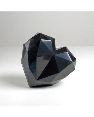 Подарочная коробка «Черное сердце», 18 × 18 × 12.5 см арт. СМЛ-105430-1-СМЛ0005195139