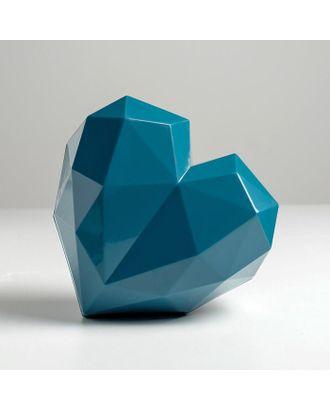Подарочная коробка «Синее сердце», 18 × 18 × 12.5 см арт. СМЛ-105431-1-СМЛ0005195140