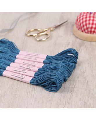 Нитки мулине, 8 ± 1 м, цвет морской синий, №3765 арт. СМЛ-122077-1-СМЛ0005195499