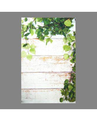 """Фотофон винил """"Белые доски с листьями"""" 80х125 см арт. СМЛ-113164-1-СМЛ0005197258"""