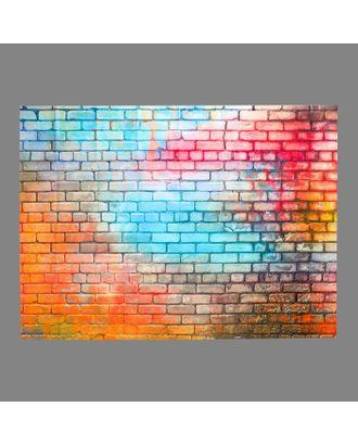 """Фотофон винил """"Разноцветная кирпичная стена"""" 150х210 см арт. СМЛ-113176-1-СМЛ0005200195"""