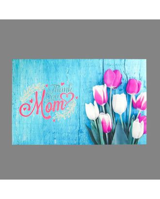 """Фотофон винил """"Тюльпаны на голубых досках"""" 80х125 см арт. СМЛ-113181-1-СМЛ0005200201"""