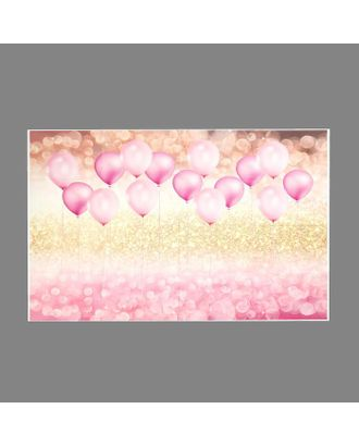 """Фотофон винил """"Розовые воздушные шарики с блёстками"""" 80х125 см арт. СМЛ-113183-1-СМЛ0005200203"""