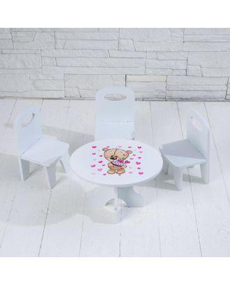 Набор стол+стулья «Сладкоежка» серия «Мишутки» арт. СМЛ-109899-1-СМЛ0005206338