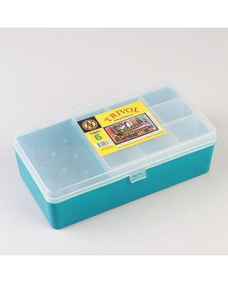 Органайзер для хранения швейных принадлежностей, 21 × 11 × 6,5 см, цвет тёмно-бирюзовый арт. СМЛ-38603-1-СМЛ0005206457