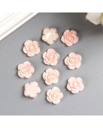 """Кабошон """"Роза"""", абрикосовый 15 мм арт. СМЛ-121807-1-СМЛ0005214824"""