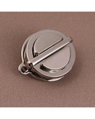 Застёжка для сумки круг d3см серебряный A251 АУ арт. СМЛ-125709-1-СМЛ0005215315