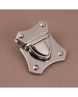 Застёжка для сумки 40*42мм серебряный A206 АУ арт. СМЛ-125712-1-СМЛ0005215318
