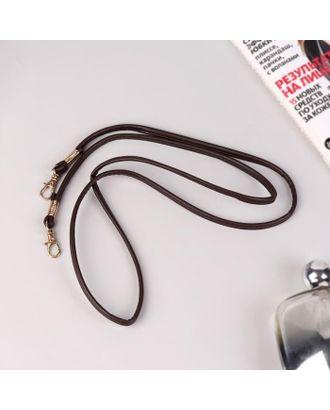 Ручка-шнурок для сумки, с карабинами, 120 × 0,6 см, цвет чёрный арт. СМЛ-125078-3-СМЛ0005215320