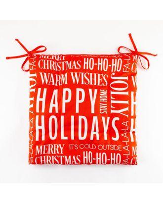 "Сидушка ""Этель"" Happy holidays 42х42х7см,100% хл,саржа 190гр/м2 арт. СМЛ-39512-1-СМЛ0005215711"