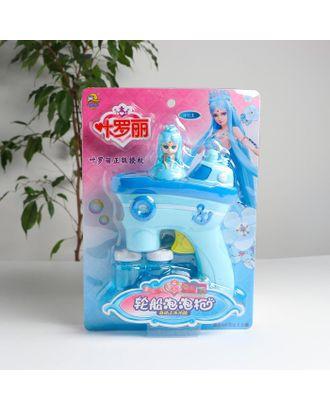 Генератор мыльных пузырей без батареек «Принцесса» голубой 15х5х21,5 см арт. СМЛ-122507-1-СМЛ0005215883