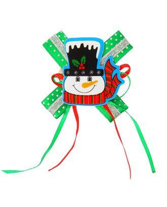 Карнавальный зажим «Снеговик», с бантиком, виды МИКС арт. СМЛ-38987-1-СМЛ0005218621