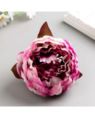 Декоративный цветок пиона 8см, сиреневый с белым арт. СМЛ-121796-1-СМЛ0005219467