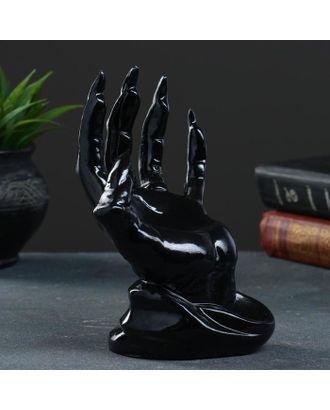 """Фигура - подставка для колец """"Рука"""" черая, 20см арт. СМЛ-115339-1-СМЛ0005231608"""