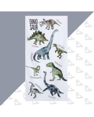 """Полотенце """"Этель"""" Dinosaur, 70х140 см, 100% хлопок 160гр/м2 арт. СМЛ-116568-1-СМЛ0005248188"""