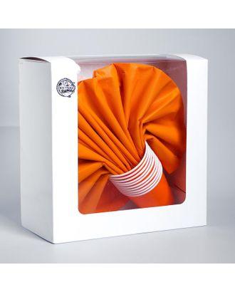 """Набор бумажной посуды """"Оранжевый"""", 10 стаканов, 10 тарелок, 50 салфеток, скатерть арт. СМЛ-110613-1-СМЛ0005249553"""