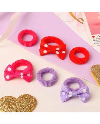 """Резинка для волос """"Нэнси"""" (набор 6 шт) бантики сердечки арт. СМЛ-125083-4-СМЛ0005256237"""