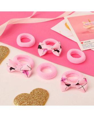 """Резинка для волос """"Нэнси"""" (набор 6 шт) бантики сердечки арт. СМЛ-125083-1-СМЛ0005256239"""