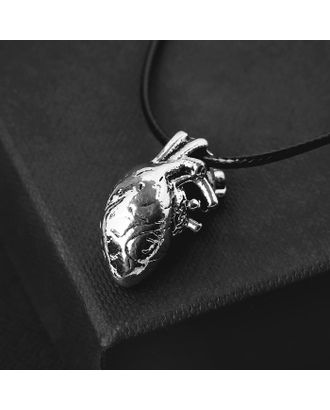 "Кулон на шнурке ""Анатомия"" сердце, цвет чернёное серебро, 45 см арт. СМЛ-125731-1-СМЛ0005260232"