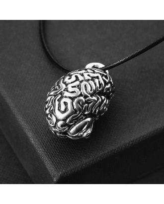 "Кулон на шнурке ""Анатомия"" мозг, цвет чернёное серебро, 45 см арт. СМЛ-125732-1-СМЛ0005260233"