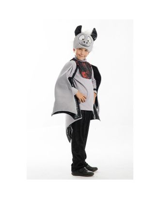 Карнавальный костюм «Вампир», шапка-маска, крылья, нагрудник, рост 122-128 см арт. СМЛ-93354-1-СМЛ0005262247