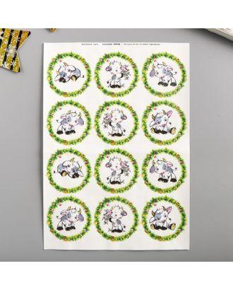 """Декупажная карта """"Беленький малыш"""" плотность  45г/м2, формат А4 арт. СМЛ-121857-1-СМЛ0005263760"""
